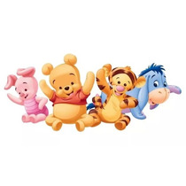 Kit Imprimible Modificable Winnie Pooh Bebe Fiesta 3x1