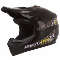 Casco Mx Pro Para Motrocross Marca Pro Tork Negro Tam 58 M