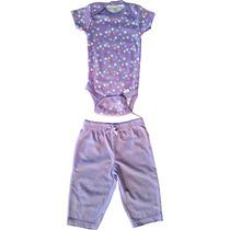 Pijama Flores Bebé - Onesies - Talla 3-6 M - 100% Algodón