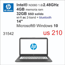 Nb Hp Intel N3060/4gb/32gb/14