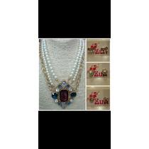 Collar Perlas Y Aros